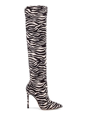 Gianvito Rossi suede knee high boots