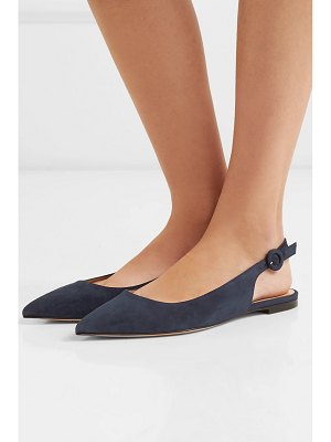 Gianvito Rossi suede slingback flats