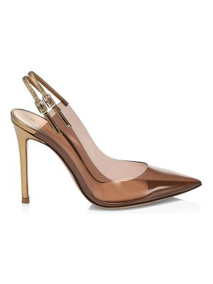 Gianvito Rossi translucent point toe slingback pumps
