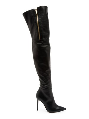 Gianvito Rossi trinity zipper over-the-knee leather boots