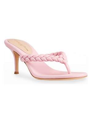 Gianvito Rossi Tropea 70mm Braided Thong Sandals