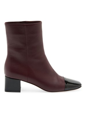 Gianvito Rossi two-tone cap-toe leather ankle boots