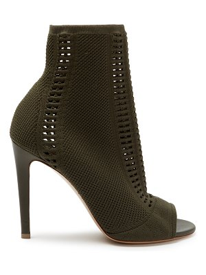 Gianvito Rossi Vires 100 Open Knit Sock Ankle Boots