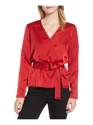 Gibson x glam squad faux wrap top