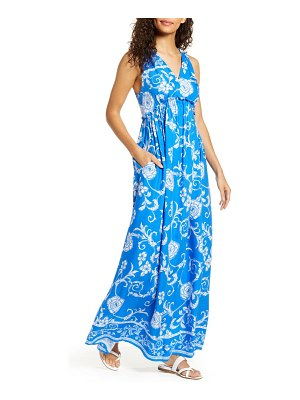 Gibson x hi sugarplum! amalfi border maxi dress