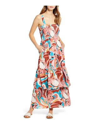 Gibson x the motherchic laguna smocked maxi sundress