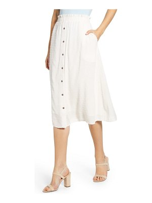 Gibson x the motherchic siesta button-down midi skirt