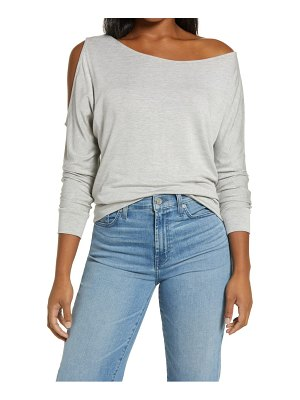 GIBSONLOOK cutout french terry top