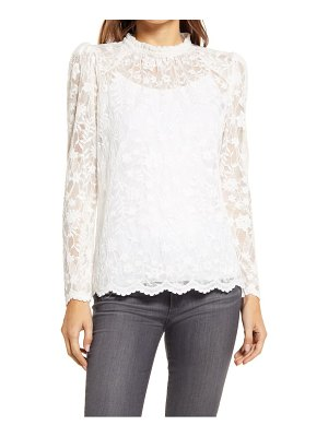GIBSONLOOK gibson puff sleeve lace top