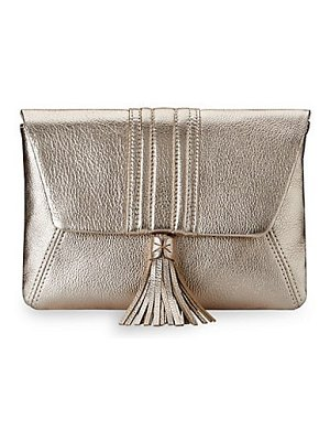 GiGi New York ava metallic leather clutch
