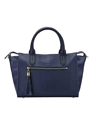 GiGi New York Grace Alligator-Print Satchel Bag