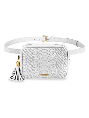 GiGi New York kylie python-embossed leather belt bag