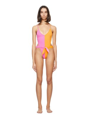 Gil Rodriguez pink and orange caracas one-piece swimsuit