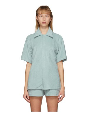 Gil Rodriguez ssense exclusive blue terry bowling shirt