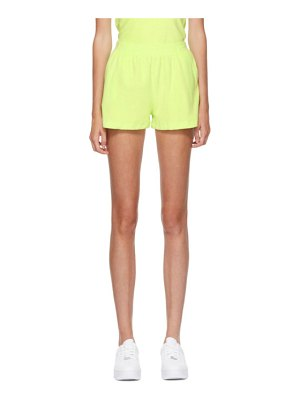Gil Rodriguez ssense exclusive green terry port shorts