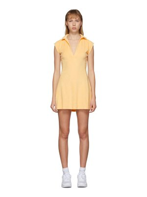 Gil Rodriguez ssense exclusive yellow terry tennis dress