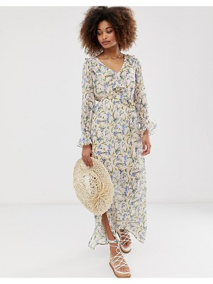 Gilli floral maxi dress with ruffle detail-multi