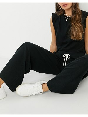 Gilly Hicks co-ord fleece sweatpants in black