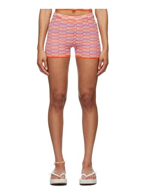 GIMAGUAS ssense exclusive orange and pink ete shorts