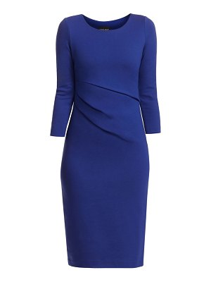 Giorgio Armani punto milano stretch ruched dress