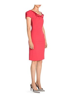 Giorgio Armani ruffle neckline sheath dress