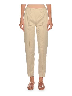 Giorgio Armani Straight-Leg Side-Zip Cotton Pants