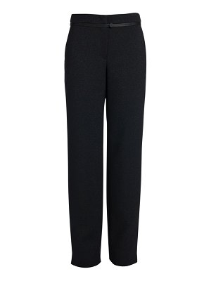 Giorgio Armani wool lurex straight-leg trousers