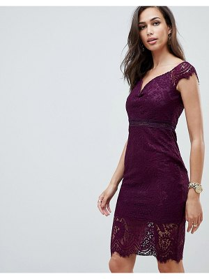 Girl In Mind off the shoulder lace dress-purple