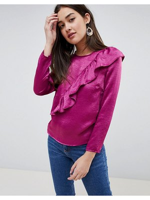 Girls on Film blouse with frill detail