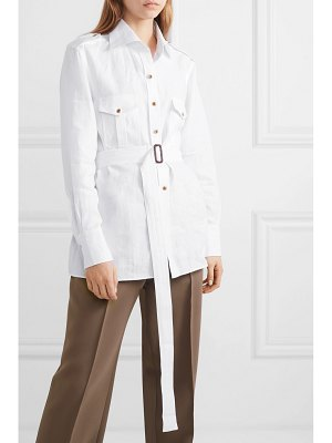 GIULIVA HERITAGE COLLECTION aurora belted linen shirt