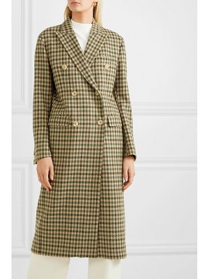 GIULIVA HERITAGE COLLECTION cindy double-breasted checked merino wool coat