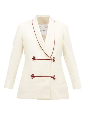 GIULIVA HERITAGE COLLECTION claudia frog button shawl collar wool jacket