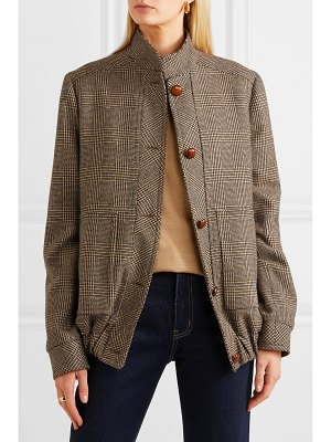 Giuliva Heritage diana prince of wales checked merino wool jacket