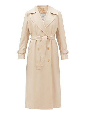GIULIVA HERITAGE COLLECTION double-breasted wool-gabardine trench coat