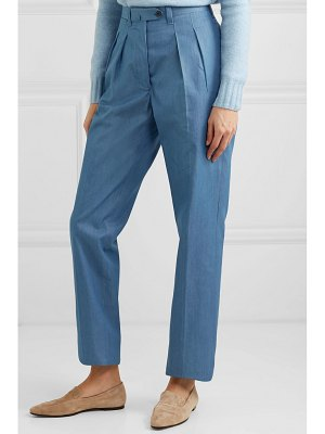 Giuliva Heritage husband cotton-chambray straight-leg pants