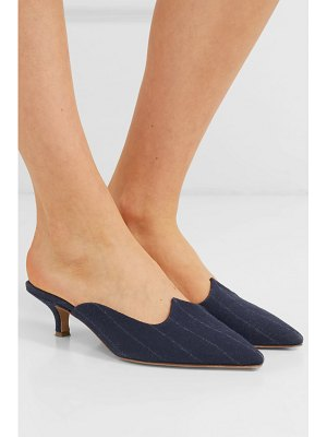 GIULIVA HERITAGE COLLECTION le monde beryl venetian pinstriped wool mules
