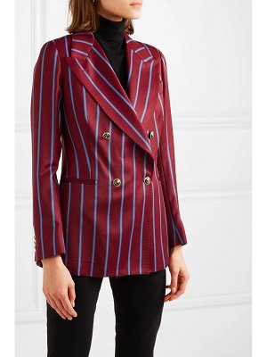 Giuliva Heritage stella double-breasted striped wool blazer