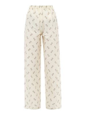 GIULIVA HERITAGE COLLECTION the amanda geometric-print cotton-blend trousers