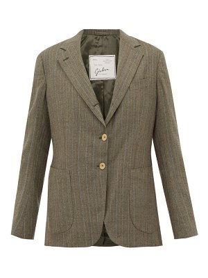 GIULIVA HERITAGE COLLECTION the andrea pinstriped single breasted wool blazer