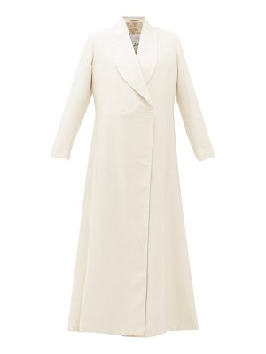 GIULIVA HERITAGE COLLECTION the angelica herringbone weave cotton blend coat