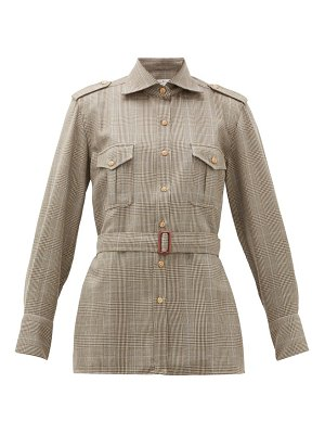 GIULIVA HERITAGE COLLECTION the aurora belted checked wool shirt