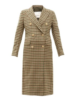 GIULIVA HERITAGE COLLECTION the cindy gunclub check wool overcoat