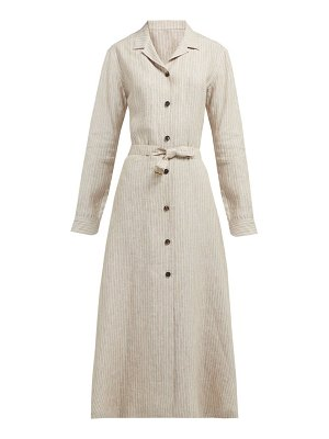 GIULIVA HERITAGE COLLECTION the clara pinstriped linen dress
