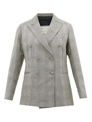 GIULIVA HERITAGE COLLECTION the cornelia checked double breasted wool blazer