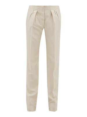 GIULIVA HERITAGE COLLECTION the gastone silk blend herringbone twill trousers