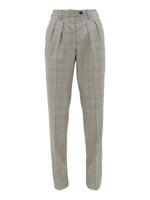 GIULIVA HERITAGE COLLECTION the husband houndstooth virgin-wool trousers