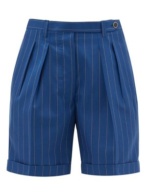 GIULIVA HERITAGE COLLECTION the husband pleated pinstriped wool shorts