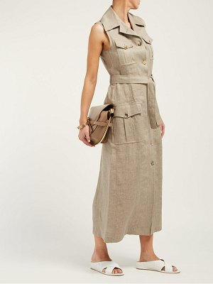 GIULIVA HERITAGE COLLECTION the mary angel linen midi dress