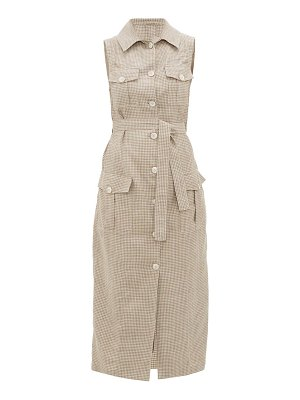 GIULIVA HERITAGE COLLECTION the mary angel sleeveless wool-blend shirt dress