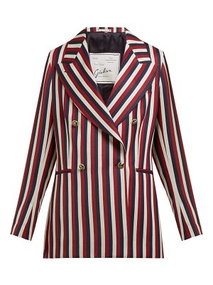 GIULIVA HERITAGE COLLECTION the stella double-breasted striped wool blazer